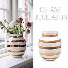 Kähler fejrer 175 år, de lancerer derfor nye vaser i begrænset antal  pr. 1.november 💕🎈🎁#kähler#nyhed#vaser#interiør#inspiration#boligplus#boligdrom#bolig
