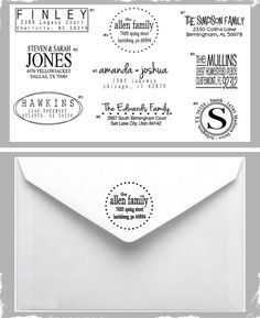 $12 Custom Return Address Stamp - Choose From 9 Designs! Makes a Great Gift!  at VeryJane.com