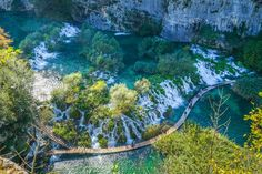 Plitvice Lakes can best be described as a paradise- there's no exaggeration needed!  From crystal clear blue seas and rushing waterfalls that belong on a postcard, Plitvice Lakes in Croatia is the ult