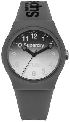 Superdry Urban Lazer Grey Silicone Strap Watch SYG198EE