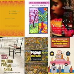 6 of my all-time favourite #African #Novels: 'Butterfly Burning' by Yvonne Vera, 'Our Sister Killjoy' by Ama Ata Aidoo, 'Half of a Yellow Sun' by Chimamanda Ngozi Adichie, 'Waiting for an Angel' by Helon Habila, 'Matigari' by Ngugi Wa Thiong'o, 'The Beautyful Ones Are Not Yet Born' by Ayi Kwei Armah