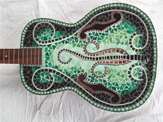 EVOLUTION MOSAIC GUITAR by racman on Etsy, $950.00
