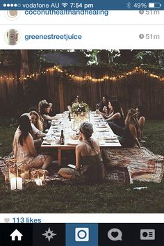 I would love to do a dinner party then I laughed on how small my circle of friends are lmao it would be one small function