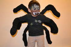 Bad ass DIY kids spider costume