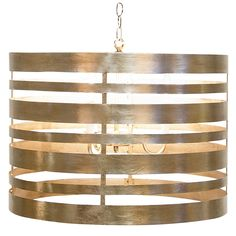 Silver Leaf Metal Striped Pendant with 3 light cluster. Sockets use chandelier 40 watt bulbs. Entire fixture UL approved for 120 watts.