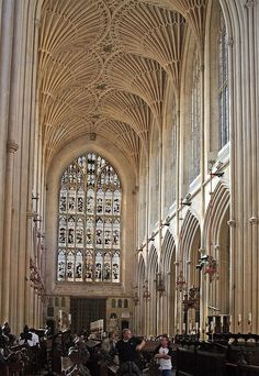 Visited it when I worked there...Bath Cathederal. Bath, England