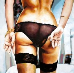 """Saatchi Online Artist thomas saliot; Painting, """"Undies"""" #art Not sure why, but I love this !"""
