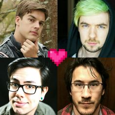 MatPat, Jacksepticeye, Natewantstobattle and Markiplier