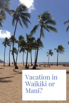 Can't decide between your next vacation in Waikiki or Maui? Our guide explains what to expect from each island to help you decide. Don't forget to pin us! Best Island Vacation, Hawaii Vacation, Vacation Trips, Lanai Island, Island Beach, Big Island, Turtle Beach, Pearl Harbor, Oahu