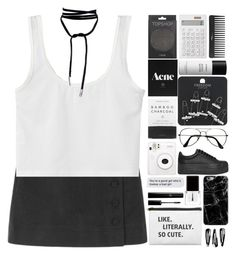 """""""school outfit"""" by anabelisstyle ❤ liked on Polyvore featuring Topshop, Context, Muji, Jeffrey Campbell, Lamoda, ZeroUV, Herbivore, Sephora Collection, Byredo and NLY Accessories"""