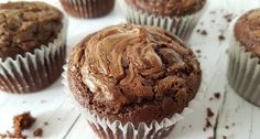 Nutellás muffin Cake Cookies, Cupcakes, Smoothie Fruit, Nutella Muffins, Recipies, Dinner Recipes, Paleo, Food And Drink, Birthday Cake