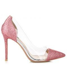 Transparentné lodičky s brokátom 5133-20P Stiletto Heels, Pumps, Shoes, Fashion, Moda, Zapatos, Shoes Outlet, Fashion Styles, Pumps Heels