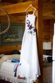 Tara Lynn made a custom hemp silk wedding dress for Kendra and Jake's sustainable wedding celebration in the Ozark Mountain range in Arkansas. June 2, 2012.