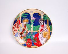 Vintage Faberge Christmas Plate Collector Plate THE ANNUNCIATION 24 Karat Gold Franklin Mint Russian Style by LeVintageGalleria on Etsy https://www.etsy.com/listing/247787173/vintage-faberge-christmas-plate