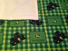 Large Baby Swaddle Blanket, John Deer Tractor, Big Green Tractor, Green, Plaid, Yellow, Baby Receiving Blanket, Baby Shower Gift on Etsy, $18.50