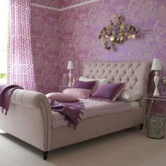 lavender lilac purple bedroom