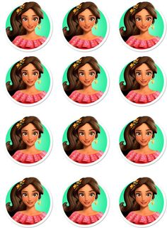 Elena of Avalor Edible Image Cupcake Toppers by ShoreCakeSupply on Etsy