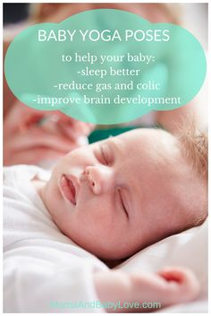 Baby Yoga Poses to help your baby sleep pinterest image