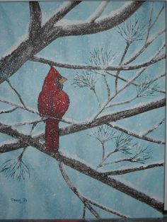 First Snow Painting by: Tracy Jo