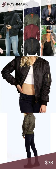 Bomber jacket LISTING IS FOR NAVY BLUE Hottest trend bomber jacket available in NAVY BLACK AND OLIVE great fully lined jacket LISTING IS FOR NAVY BLUE PLEASE USE Poshmark new option you can purchase and it will give you the option to pick the size you want ( all sizes are available) BUNDLE And SAVE 10% ( sizes updated daily ) Jackets & Coats