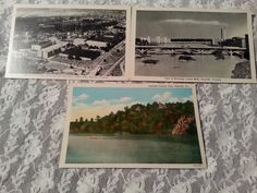 3-Danville VA Postcards-Cotton Mills & Country Club