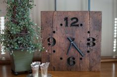 Rustic Reclaimed Wood Clock