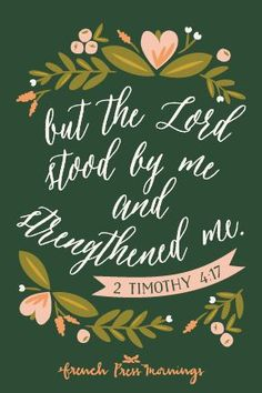 Amazing and Inspiring Bible Quote 2 Timothy Bible Verses Quotes, Bible Scriptures, Biblical Quotes, Jesus Quotes, French Press Mornings, 2 Timothy 4, Scripture Art, God Is Good, Word Of God