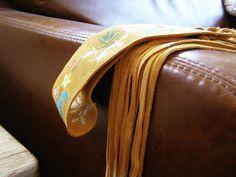 Vintage Boho Belt Mustard suede  belt with flowers by MeshuMaSH, $27.00