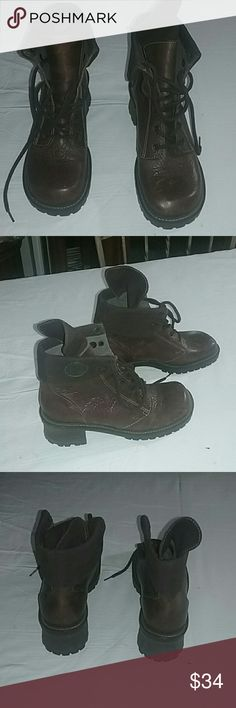 Hokus Pokus Boots Genuine leather upper with fabric upper liner. Never been worn. Very clean Hokus Pokus  Shoes Ankle Boots & Booties