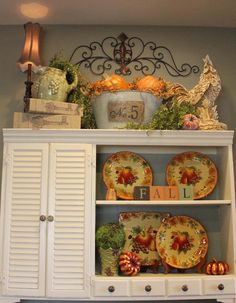 19 Dining Room Ideas >> For More Dining Decor Ideas Top Of Cabinets, Above Kitchen Cabinets, Cupboards, Kitchen Canisters, Tuscan Home Decorating, French Country Decorating, Tuscan Style Homes, Tuscan House, Above Cabinet Decor