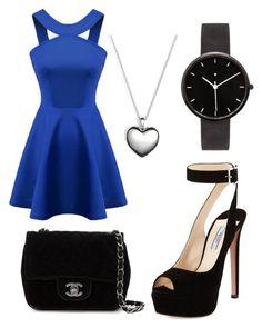 Date Night Dress by sarayxg on Polyvore featuring polyvore, fashion, style, Chicnova Fashion, Prada, Chanel, I Love Ugly, Pandora and clothing