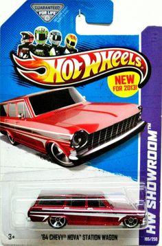 1964 Chevy Nova Station Wagon Hot Wheels 2013 HW Showroom #185/250 Red  #HotWheels #Chevrolet