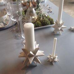 House doctor Lysestage - STAR, porcelæn. Til kalenderlys