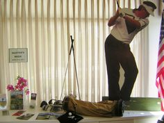 We LOVE the Masters Tournament Display at the Georgia Visitor Information Center in Sylvania!