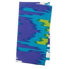 Check out this item at One Kings Lane! S/4 Ikat Napkins, Blue/Green