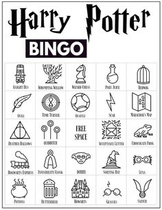 30 Harry Potter themed bingo cards for a Harry Potter themed party or classroom activity. Harry Potter Banner, Harry Potter Party Games, Harry Potter Activities, Cumpleaños Harry Potter, Harry Potter Classroom, Harry Potter Printables, Harry Potter Birthday, Harry Potter English, Harry Potter Francais