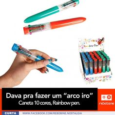 Canetas Dez Cores Rainbow Pen