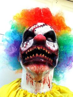 need makeup or prosthetics for your DIY Scary Clown Costume? Check out my clown mask prosthetics ! easy to use, more realistic than ill fitting large halloween masks made in china ! click here or search janedoefx online