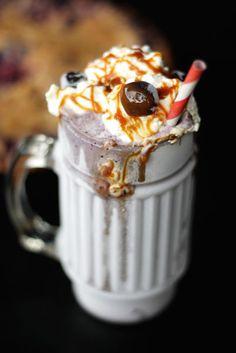 blueberry crumb pie milkshake...there is an entire piece of pie in this milkshake!