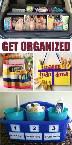 "22 Genius Family ""Stations"" to Organize Your Life. Organize your home and declutter your life! Organization Station, Home Organisation, Storage Organization, Household Organization, Bathroom Organization, Organize Your Life, Organizing Your Home, Organizing Ideas, Organising Tips"