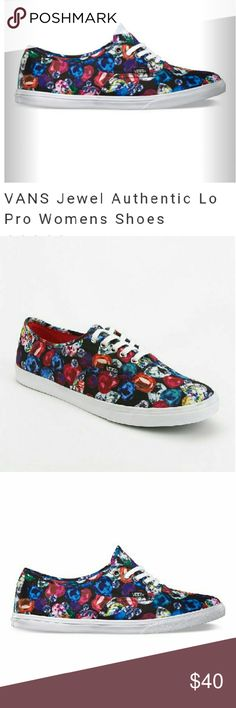 FINAL!! NWOT AUTHENTIC VANS LOW PRO JEWEL PRINT New without tags aunthentic Low Pro Vans ! I love these shoes! Bought these but now fit me big so I never got a chance to wear them :( ! They are so comfortable and pretty!  :) :) MAKE AN OFFER! Vans Shoes Sneakers