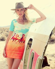 Southwest state of mind // Mini dress from wearehandsome.com // Stetson cowboy hat // Earrings at the2bandits.com