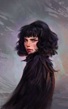 Pigeon by Merilliza Chan Dnd Characters, Fantasy Characters, Female Characters, Character Portraits, Character Art, Character Makeup, Rpg Wallpaper, Realistic Drawings, Character Design Inspiration