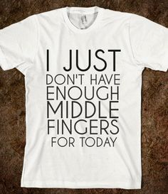 MIDDLE FINGERS - glamfoxx.com - Skreened T-shirts, Organic Shirts, Hoodies, Kids Tees, Baby One-Pieces and Tote Bags