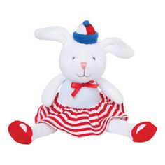 Knittie Bittie Nautical Bunny - matches outfits in our Kissy Kissy Nautical Collection, so cute to add to the outfits to make a great gift! Newborn Gifts, Baby Gifts, Rabbit Toys, Bunny Rabbit, Nautical Baby, Lil Baby, Baby Boutique, Baby Toys, Baby Knitting