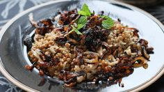 Lentils and rice: Serve this simple, traditional Lebanese dish with thick yoghurt and mint.
