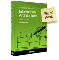 Drawing on her many years of teaching and practicing Information Architecture, Donna Spencer walks you through some simple steps to create better information architectures. This ebook will inspire you to tackle your own IA projects, large or small.