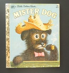 There's just something about a dog smoking that rubs me the wrong way. | 15 Unintentionally Disturbing Vintage Children's Books You'll Find On Etsy