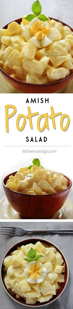Potato Salad Amish Potato Salad Recipe - goes with practically anything, from picnics to barbecue to lunch to dinner - Amish Potato Salad Recipe - goes with practically anything, from picnics to barbecue to lunch to dinner - Amish Potato Salads, Potato Dishes, Potato Recipes, Savory Salads, Chefs, Pennsylvania Dutch Recipes, Kebab, Calories, Soup And Salad