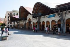Mercat Santa Caterina, located just off Via Laietana, one of Barcelonas most important roads, has witnessed immense historical changes